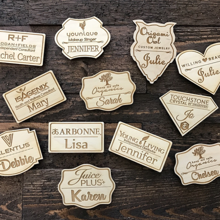 Custom shape Badges