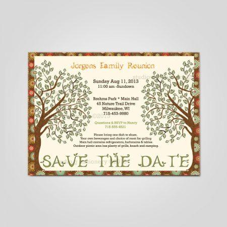 Family Reunion Invitation Cards