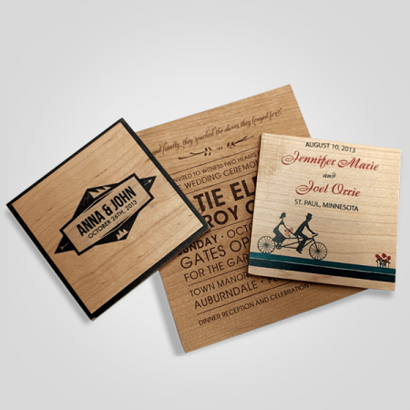 Die Cut Wooden Cards