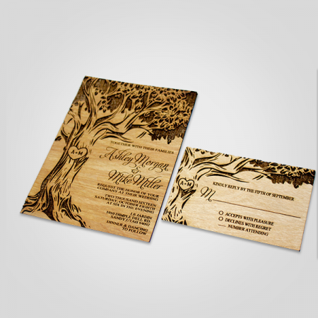 Engraved Wooden Cards
