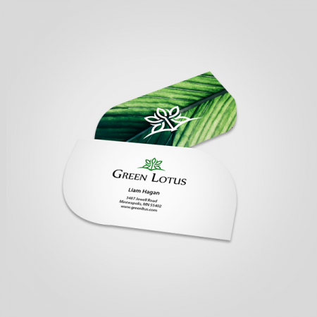 Leaf Cut Visiting Cards