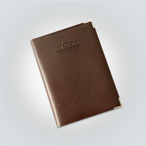 leather diary brown