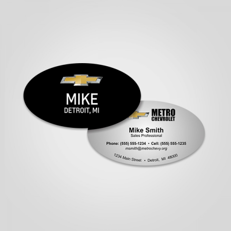 Oval Visiting Cards