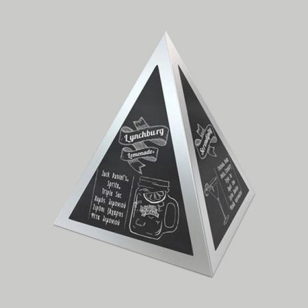 Pyramid Shape Table Tents