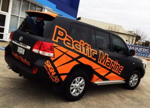 Vehicle Branding on car
