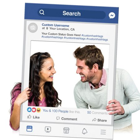 Facebook Cutout Frame