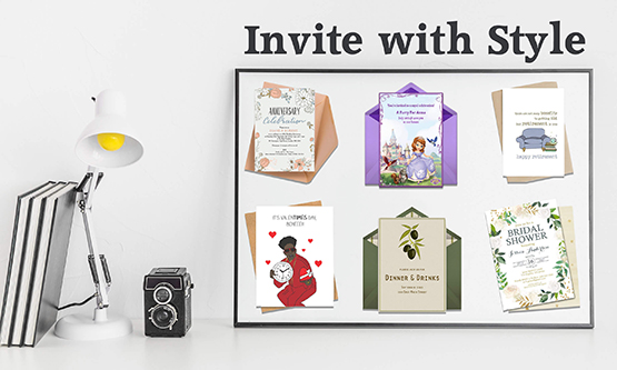 invitation cards display